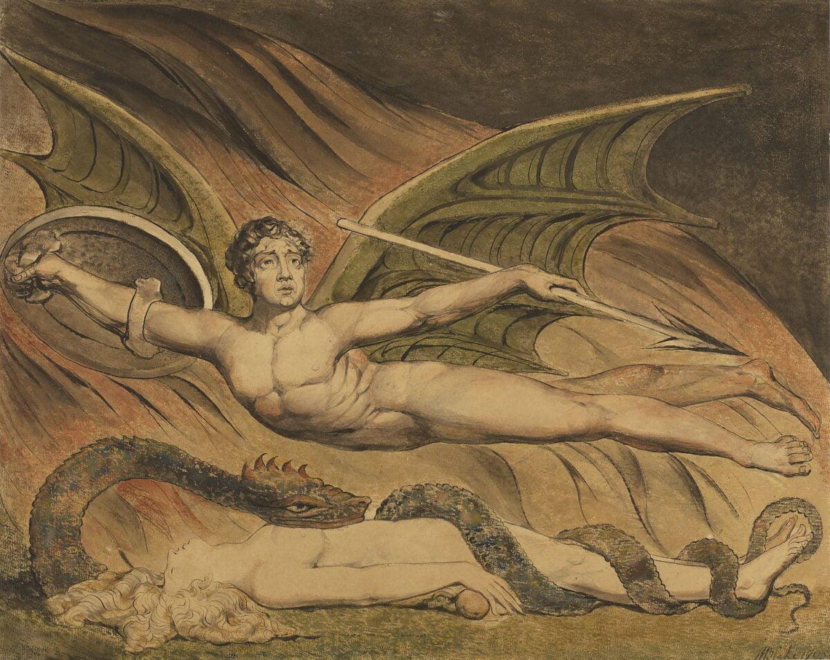 Satan Exulting over Eve by William Blake