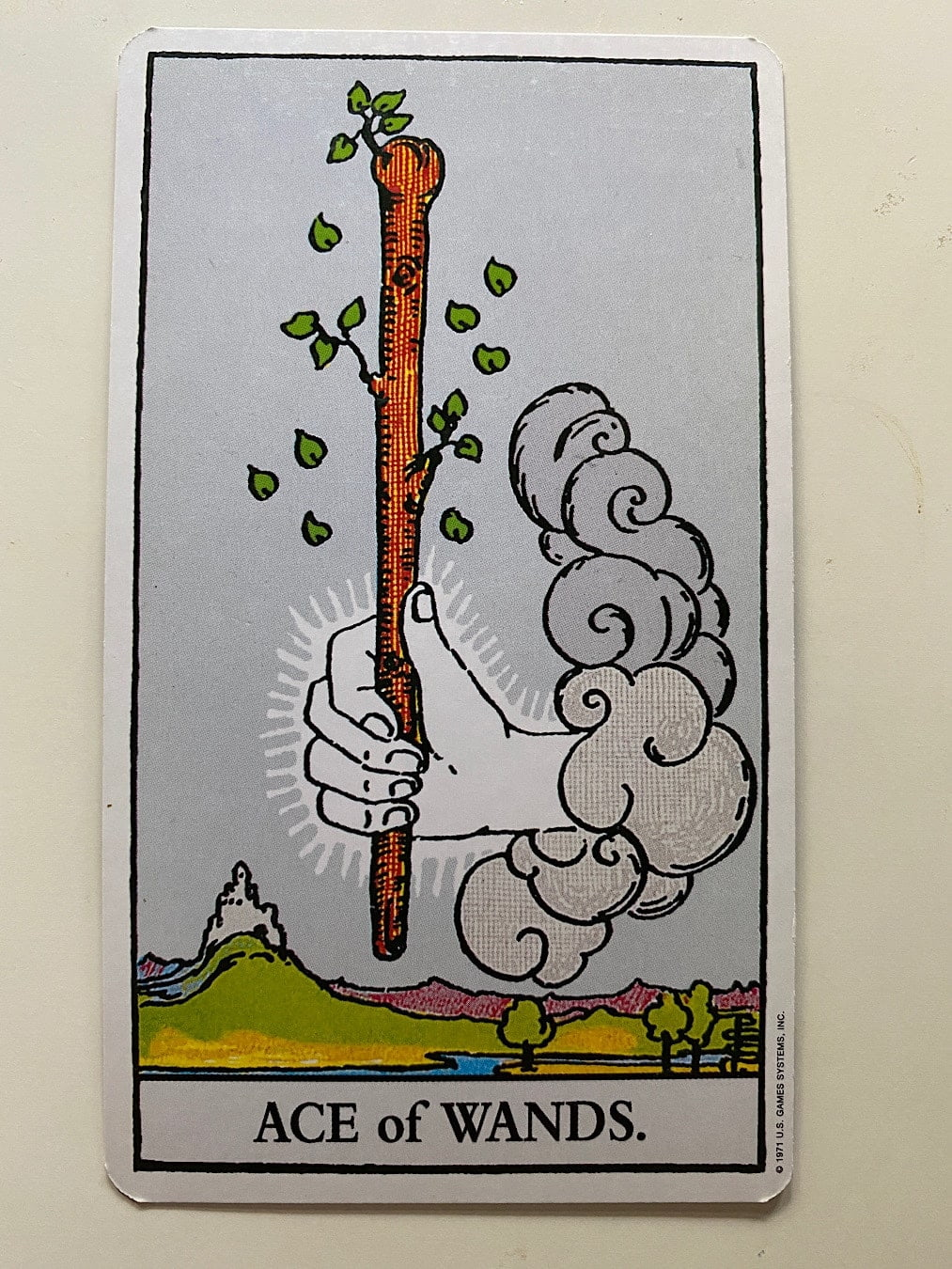 Ace of Wands rider-waite-smith