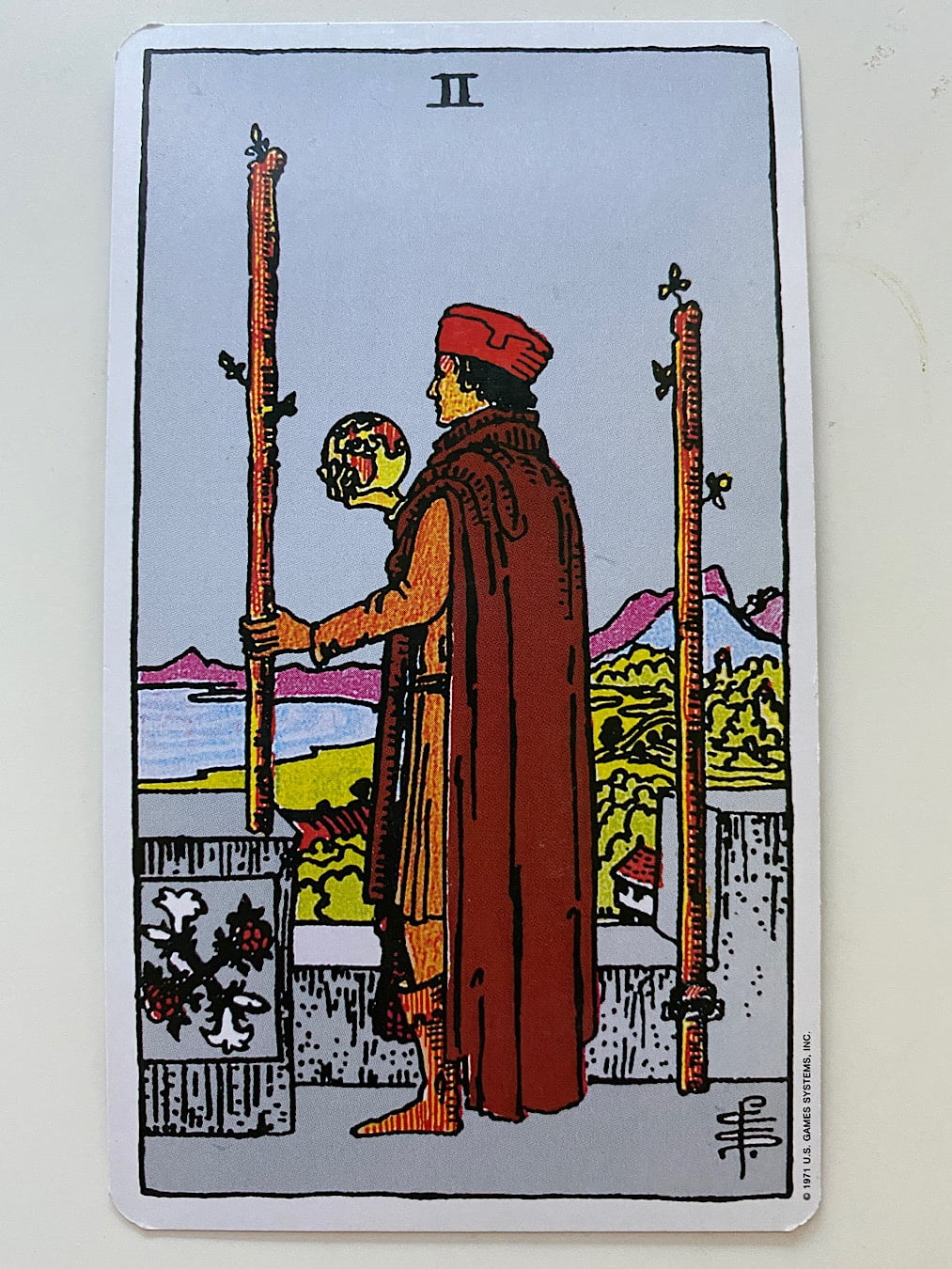 Two of wands rider waite smith