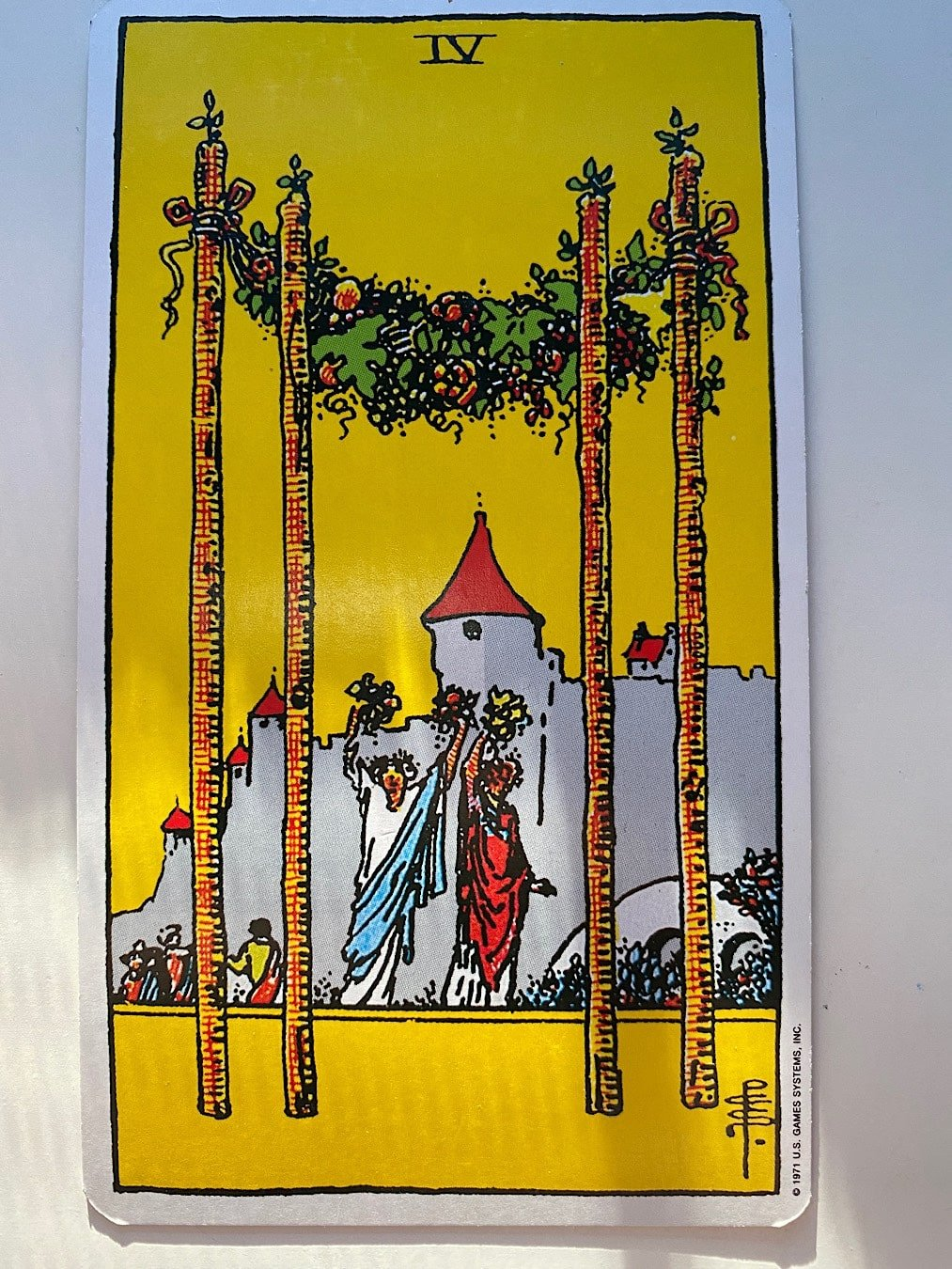 Four of wands rider-waite-smith