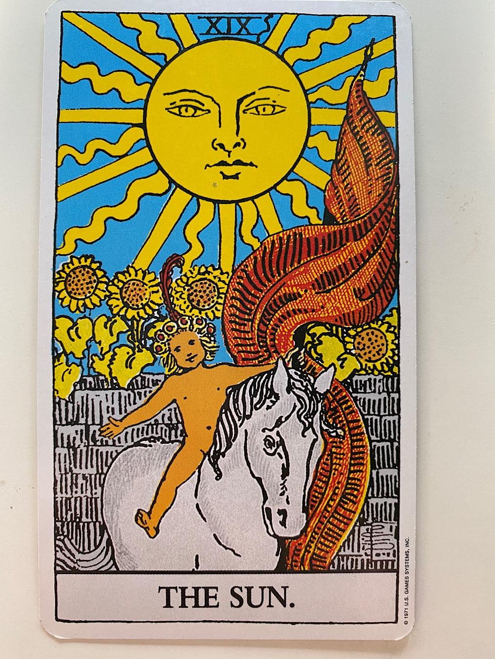 The Sun Rider-Waite-Smith