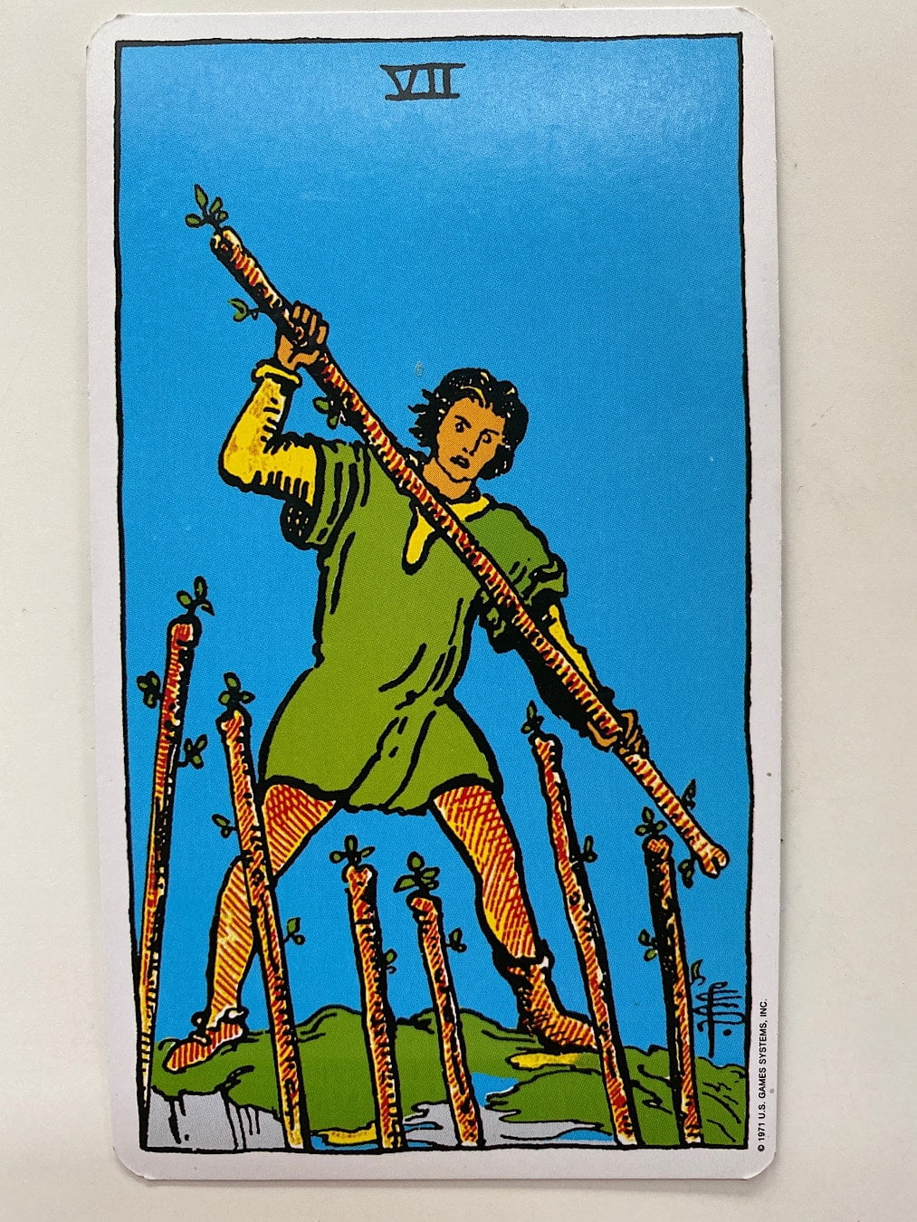 Seven of wands rider-waite-smith