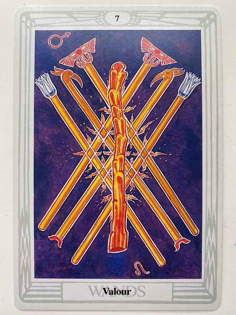 Seven of Wands thoth