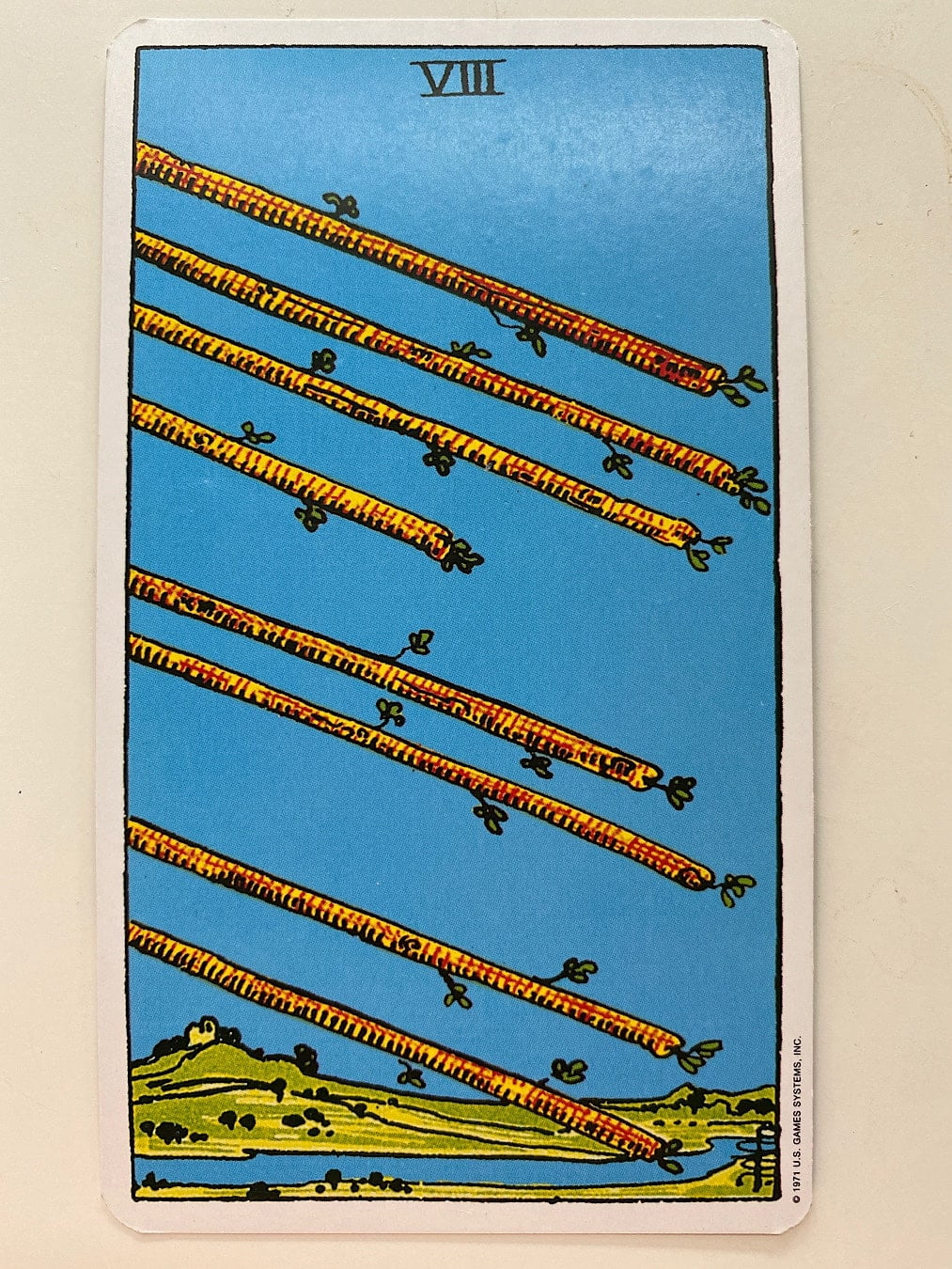 Eight of Wands Rider-Waite-Smith