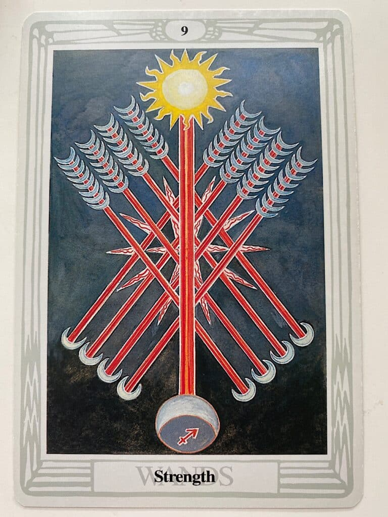 Nine of Wands Thoth
