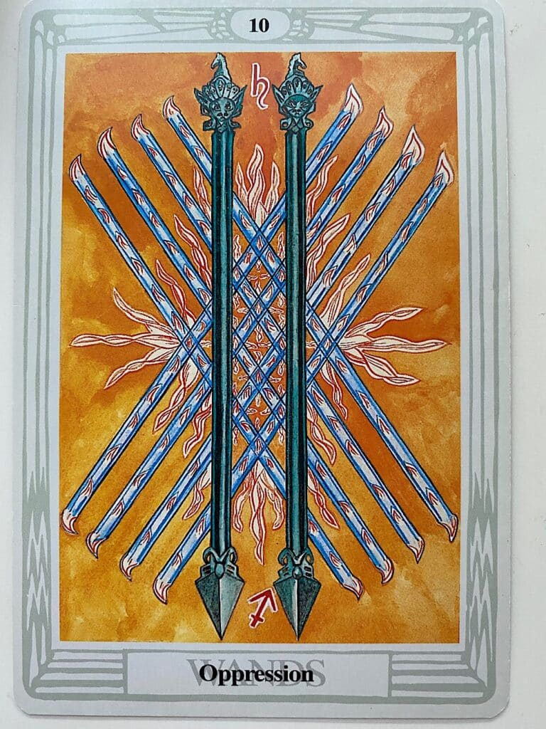Ten of Wands - Thoth