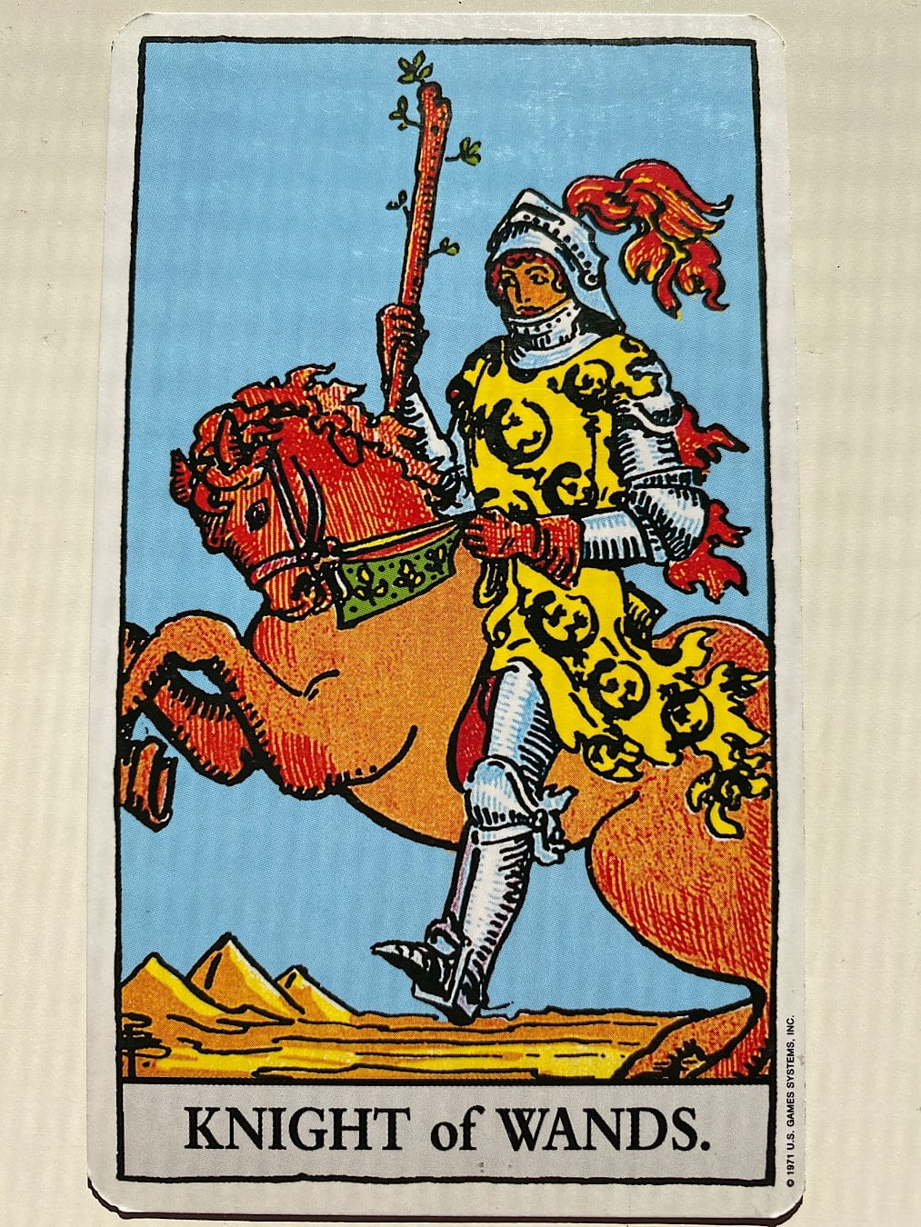 Knight of Wands Rider-Waite-Smith