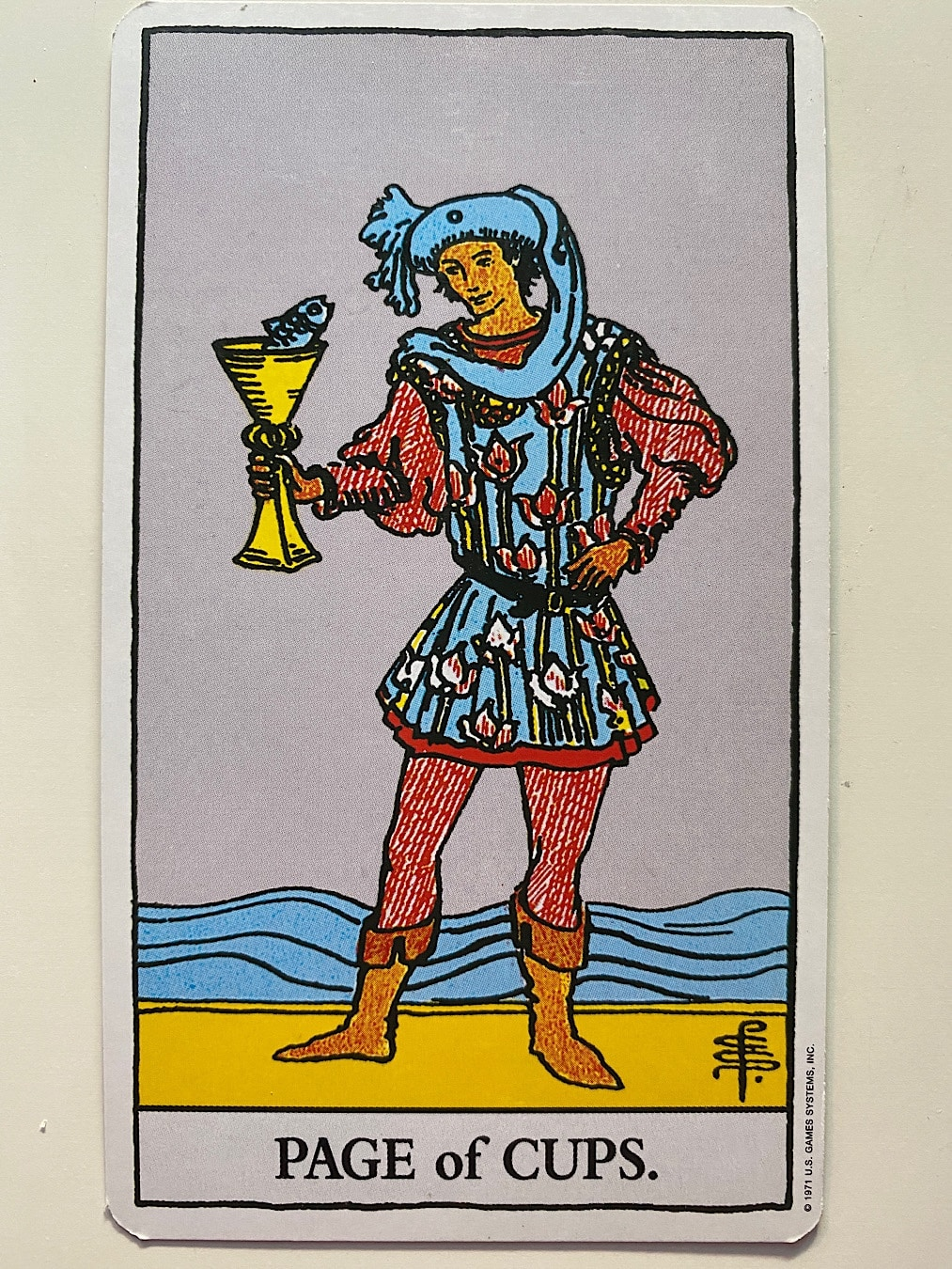 Page of Cups Rider-Waite-Smith