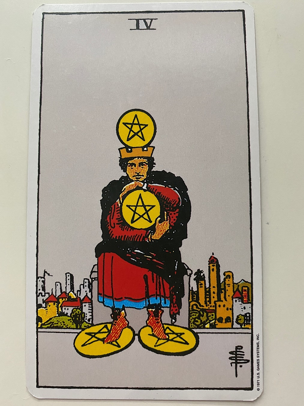 Four of Pentacles Rider-Waite-Smith
