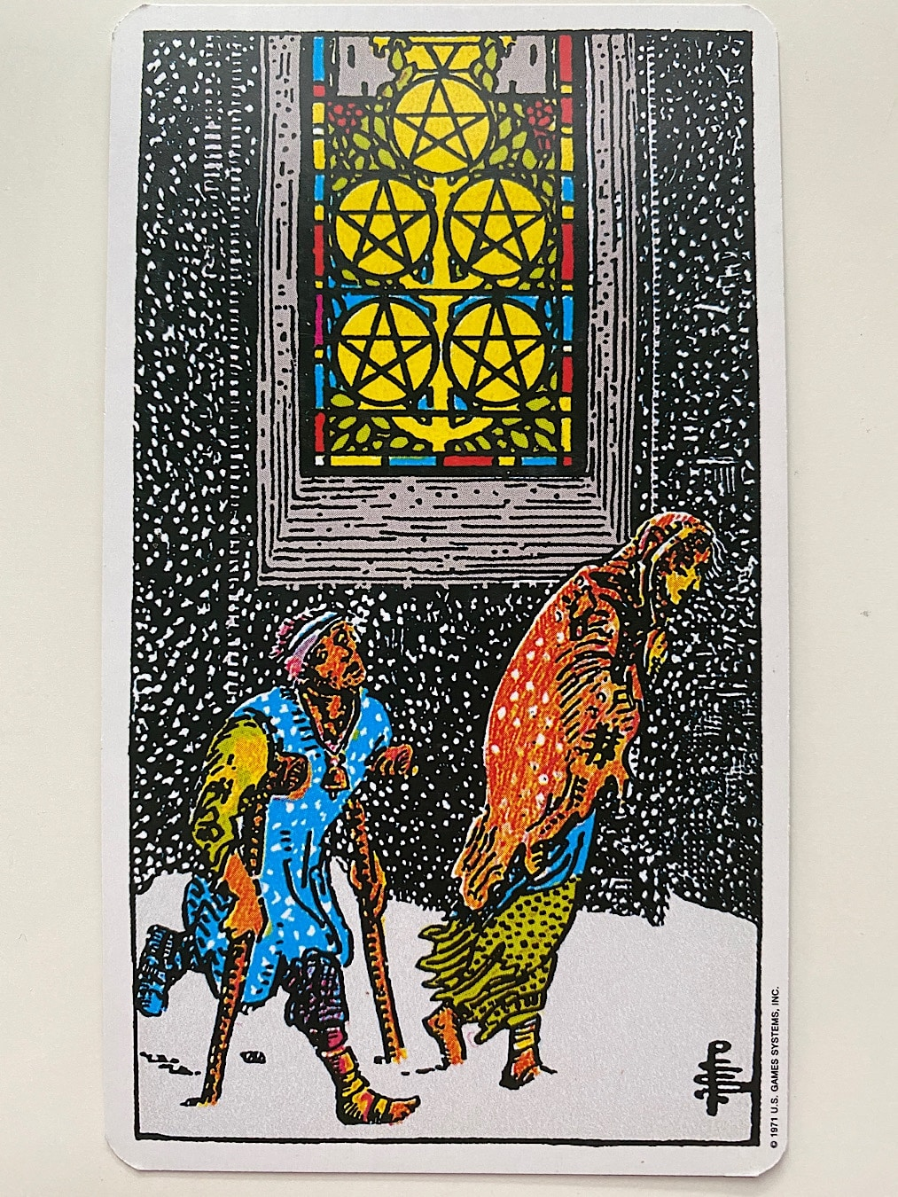 Five of Pentacles Rider-Waite-Smith