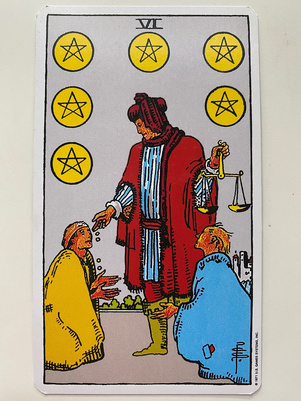 Six of Pentacles Rider-Waite-Smith