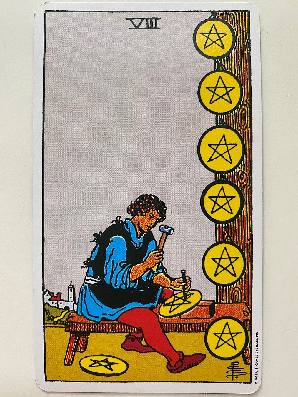 Eight of Pentacles Rider-Waite-Smith